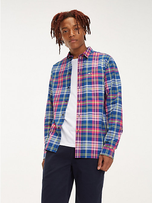 TOMMY JEANS Essential Pure Cotton Check Shirt - LIMOGES / MULTI - TOMMY JEANS Shirts - main image