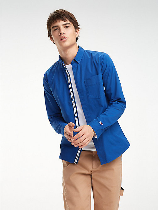TOMMY JEANS Cotton Twill Regular Fit Shirt - LIMOGES - TOMMY JEANS Shirts - main image