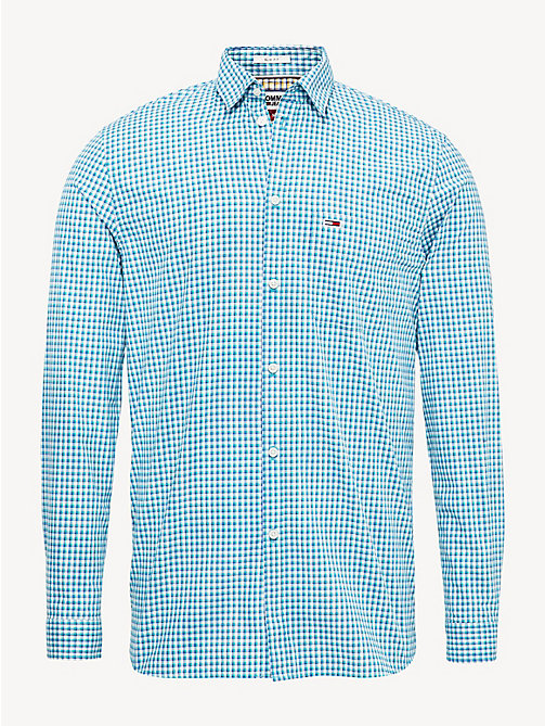 TOMMY JEANS Essential Check Slim Fit Shirt - DYNASTY GREEN / MULTI - TOMMY JEANS Shirts - detail image 1