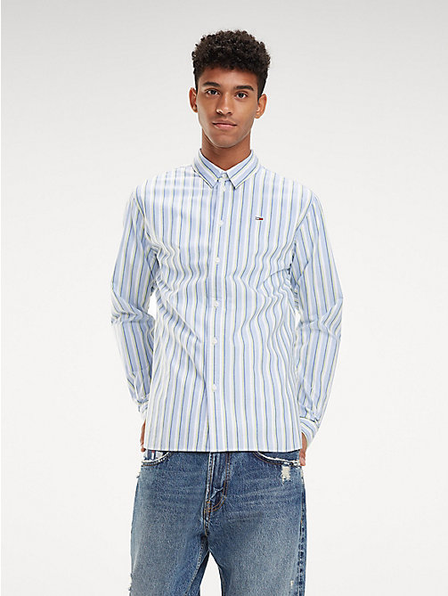 TOMMY JEANS Essential Stripe Print Shirt - LAVENDER LUSTRE / MULTI - TOMMY JEANS Shirts - main image