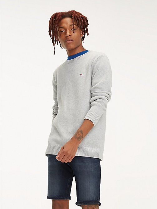 TOMMY JEANS Pullover Tommy Classics - LT GREY HTR - TOMMY JEANS Maglieria - immagine principale