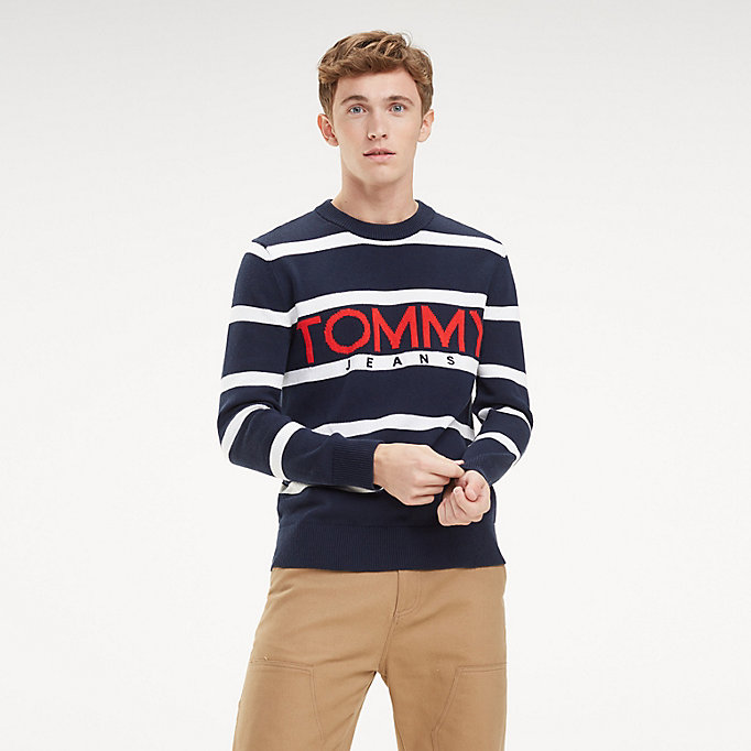 1a4ec05d055c3c Tommy Jeans-Logo-Pullover   BLACK IRIS / MULTI   Tommy Hilfiger
