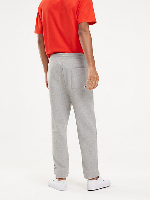 TOMMY JEANS Tommy Classics Organic Cotton Joggers - LT GREY HTR - TOMMY JEANS Trousers & Shorts - detail image 1