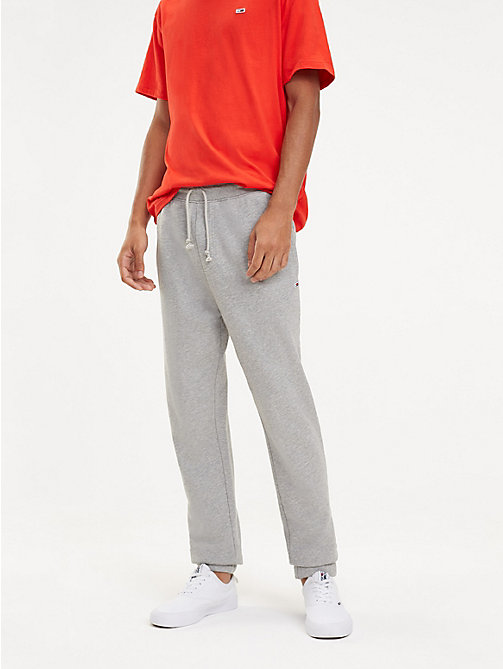 TOMMY JEANS Tommy Classics Organic Cotton Joggers - LT GREY HTR - TOMMY JEANS Trousers & Shorts - main image