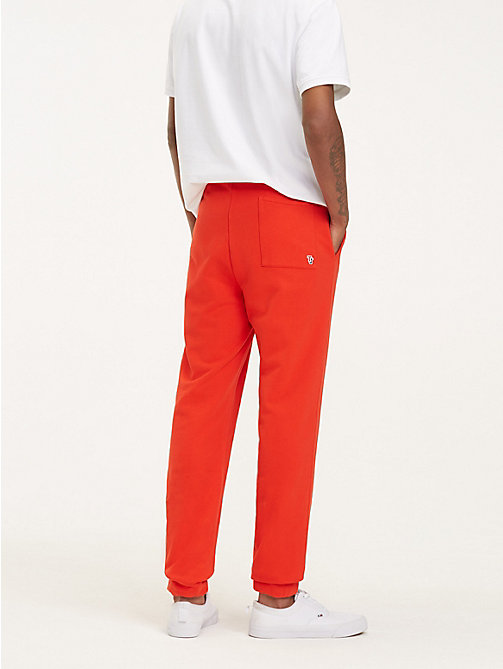 TOMMY JEANS Tommy Classics Organic Cotton Joggers - FLAME SCARLET - TOMMY JEANS Trousers & Shorts - detail image 1