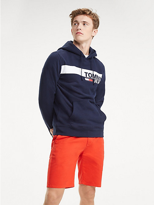 TOMMY JEANS Essential Graphic Hoody - BLACK IRIS - TOMMY JEANS Sweatshirts & Hoodies - main image