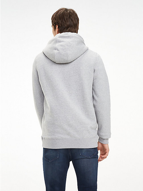 TOMMY JEANS Essential Graphic Hoody - LT GREY HTR - TOMMY JEANS Sweatshirts & Hoodies - detail image 1
