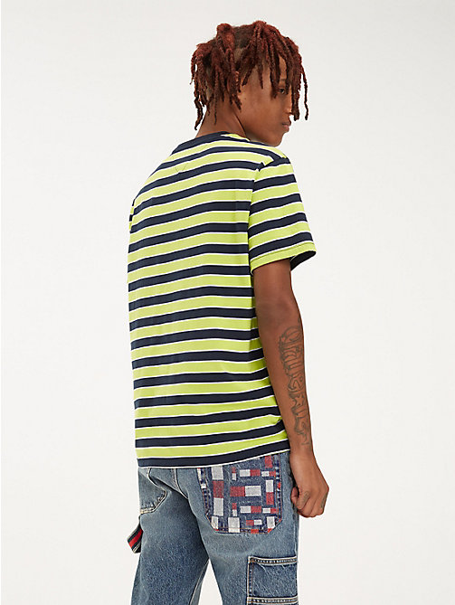 TOMMY JEANS Organic Cotton All-Over Stripe T-Shirt - ACID LIME / MULTI - TOMMY JEANS T-Shirts & Polos - detail image 1