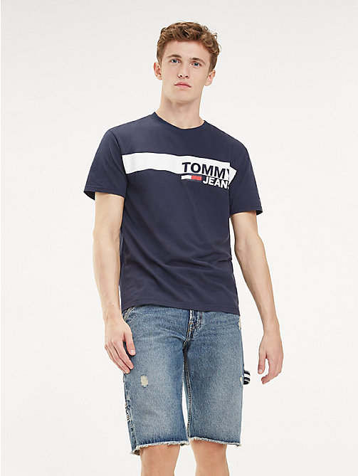 TOMMY JEANS Essential Organic Cotton T-Shirt - BLACK IRIS - TOMMY JEANS T-Shirts & Polos - main image