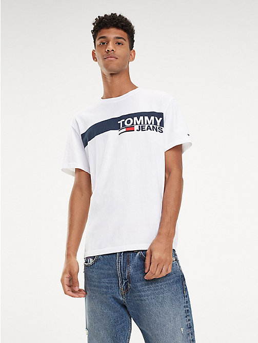 TOMMY JEANS Essential Organic Cotton T-Shirt - CLASSIC WHITE - TOMMY JEANS T-Shirts & Polos - main image