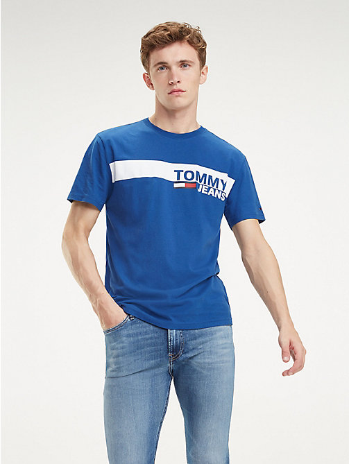 TOMMY JEANS Essential Organic Cotton T-Shirt - LIMOGES - TOMMY JEANS T-Shirts & Polos - main image