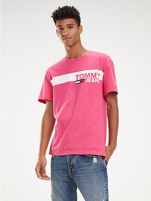 TOMMY JEANS Essential Organic Cotton T-Shirt - FUCHSIA PURPLE - TOMMY JEANS T-Shirts & Polos - main image