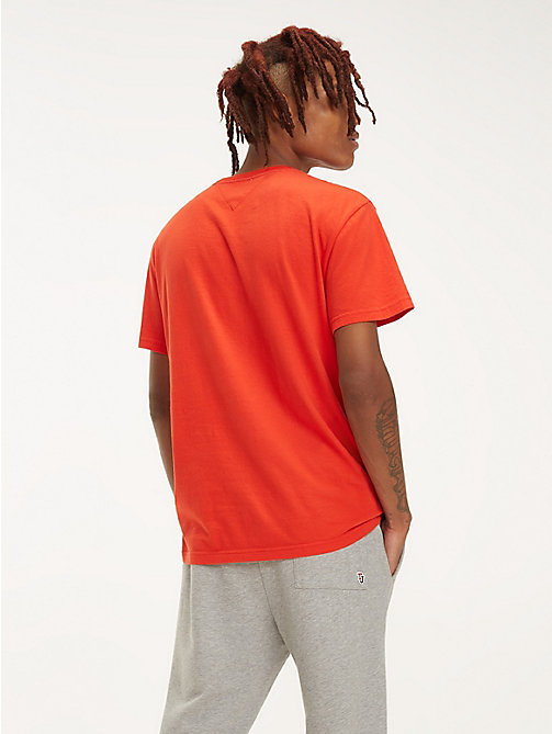 TOMMY JEANS Essential Organic Cotton T-Shirt - FLAME SCARLET - TOMMY JEANS T-Shirts & Polos - detail image 1