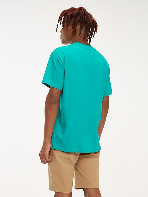 TOMMY JEANS Neon Signature Logo T-Shirt - DYNASTY GREEN - TOMMY JEANS T-Shirts & Polos - detail image 1