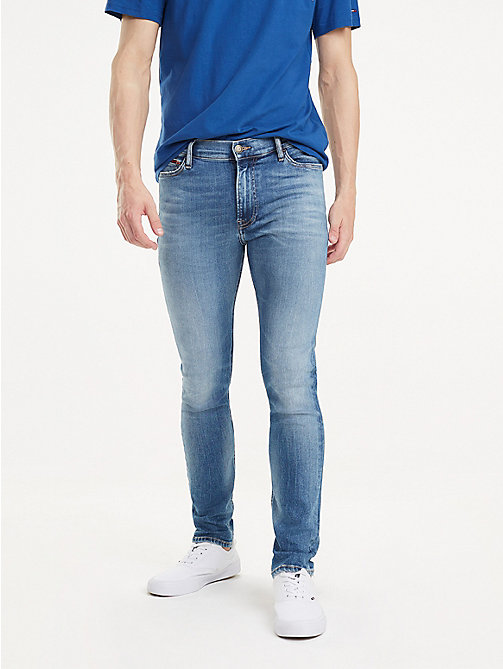 TOMMY JEANS Vintage Skinny Fit Jeans - FALCON MID BLUE STR - TOMMY JEANS Jeans - main image
