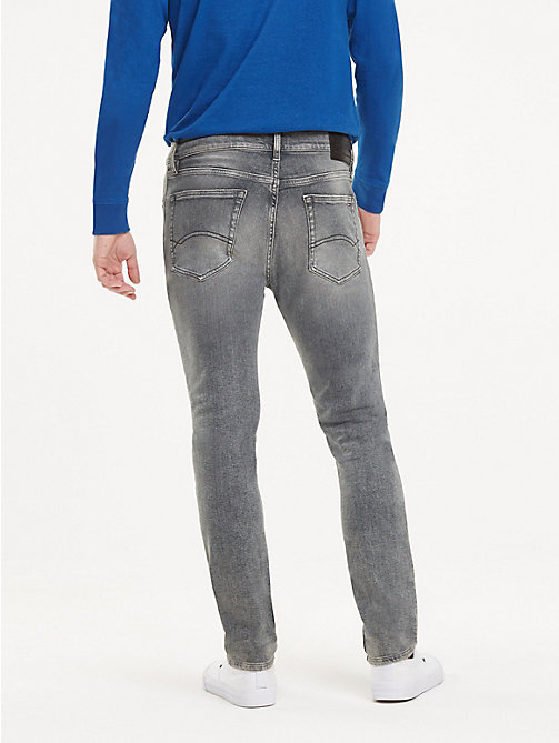 TOMMY JEANS Slim Fit Tapered Leg Jeans - DEVON GREY STR - TOMMY JEANS Tapered Jeans - detail image 1