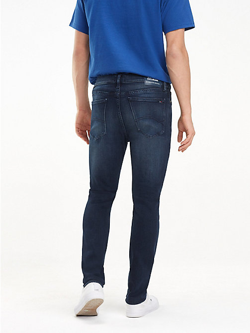 TOMMY JEANS Dark Wash Skinny Fit Jeans - LODGE DARK BLUE STR - TOMMY JEANS Jeans - detail image 1
