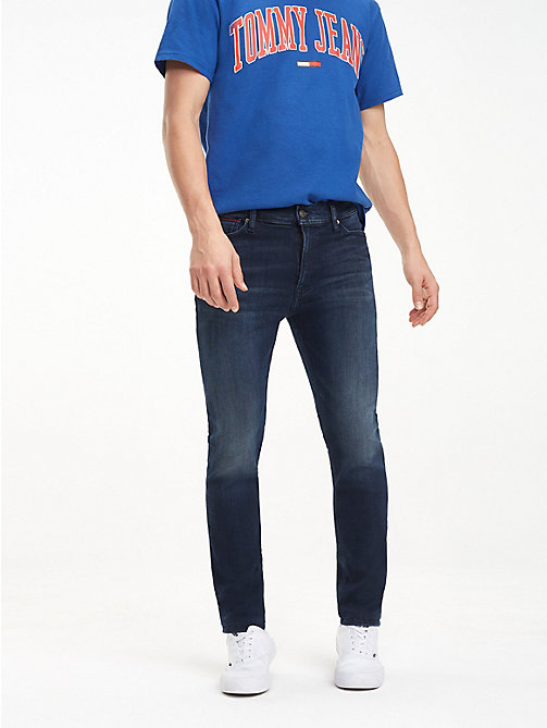 TOMMY JEANS Dark Wash Skinny Fit Jeans - LODGE DARK BLUE STR - TOMMY JEANS Jeans - main image