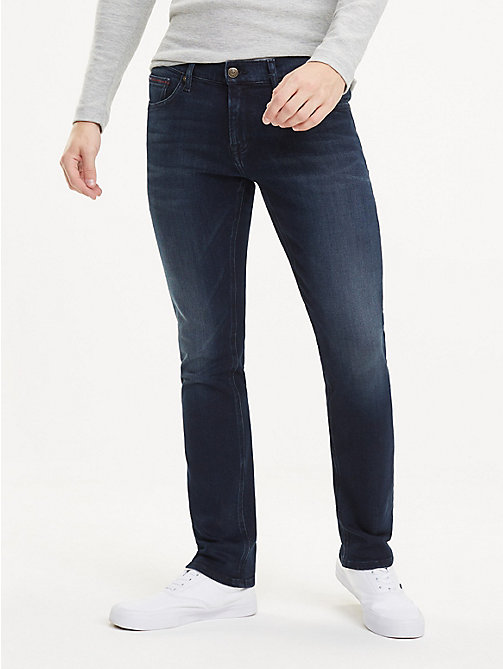 TOMMY JEANS Scanton Faded Slim Fit Jeans - LODGE DARK BLUE STR - TOMMY JEANS Jeans - main image