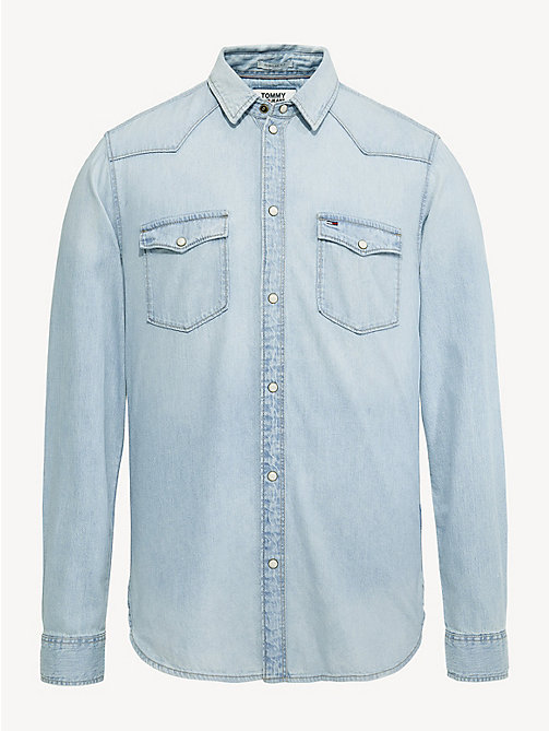 TOMMY JEANS Western-Style Denim Shirt - ARENA LIGHT BLUE RIG - TOMMY JEANS Shirts - detail image 1