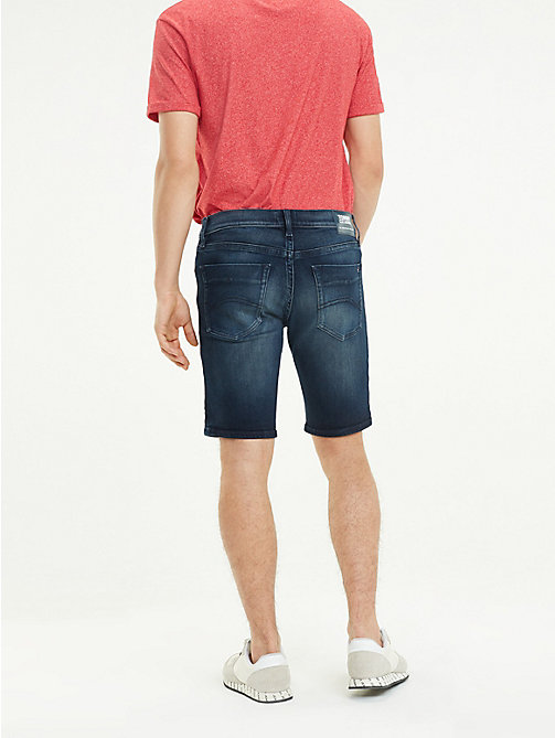 TOMMY JEANS Scanton Indigo Denim Shorts - LODGE DARK BLUE STR - TOMMY JEANS Trousers & Shorts - detail image 1
