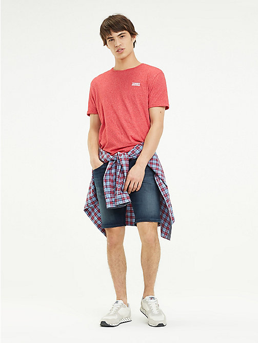 TOMMY JEANS Scanton Indigo Denim Shorts - LODGE DARK BLUE STR - TOMMY JEANS Trousers & Shorts - main image