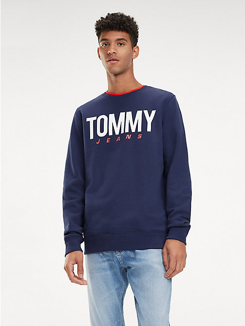 TOMMY JEANS Essential Crew Neck Sweatshirt - BLACK IRIS - TOMMY JEANS Sweatshirts & Hoodies - main image