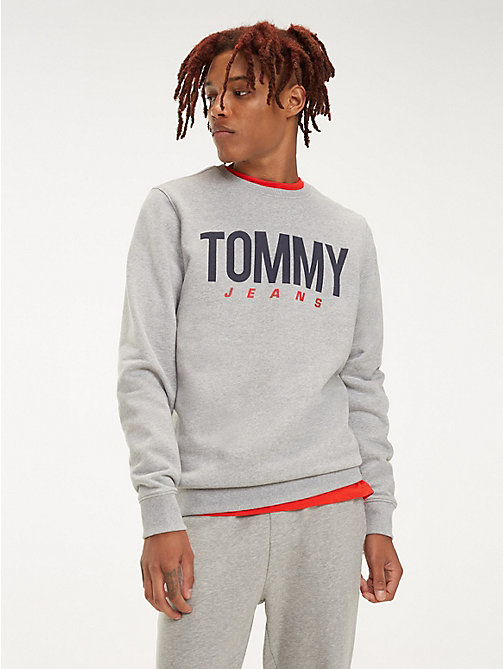 TOMMY JEANS Essential Crew Neck Sweatshirt - LT GREY HTR - TOMMY JEANS Sweatshirts & Hoodies - main image