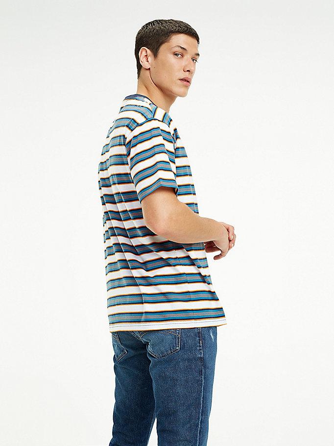 cc90908e8 Retro Stripe Organic Cotton T-Shirt | SAXONY BLUE / MULTI | Tommy ...