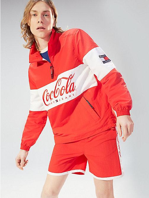 ce035eb13a81 TOMMY JEANSVeste à col haut zippé et logo Coca-Cola