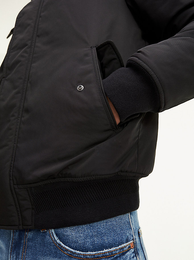 Tech Jacke mit Kunstfell Kapuze