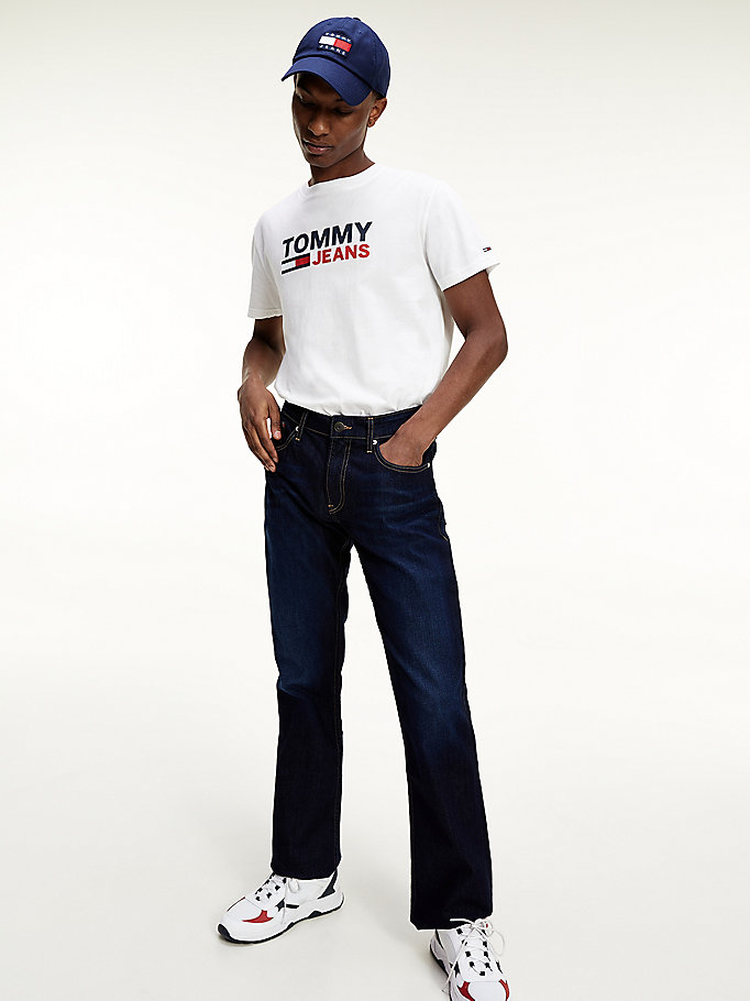 denim ryan bootcut faded knee jeans for men tommy jeans
