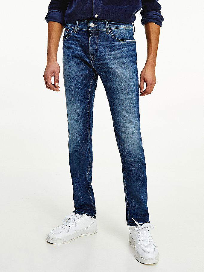 denim scanton slim mid wash jeans for men tommy jeans