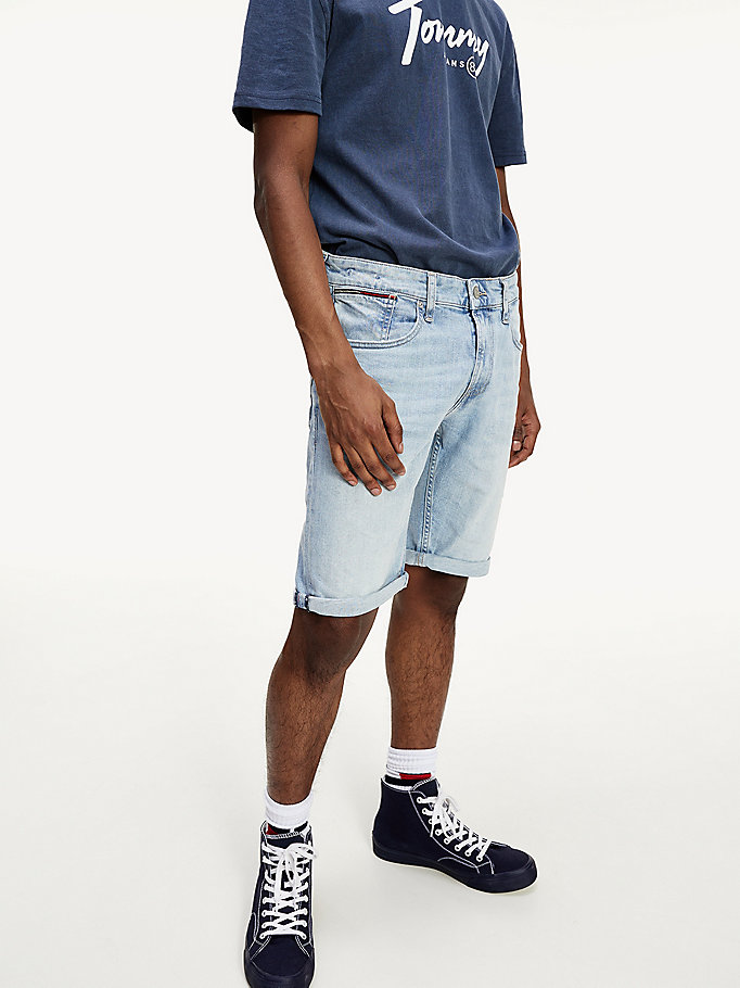 denim stretch cotton relaxed fit denim shorts for men tommy jeans