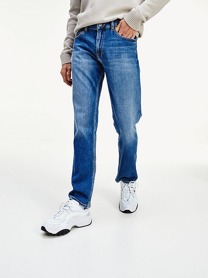 denim ryan straight fit jeans für herren - tommy jeans
