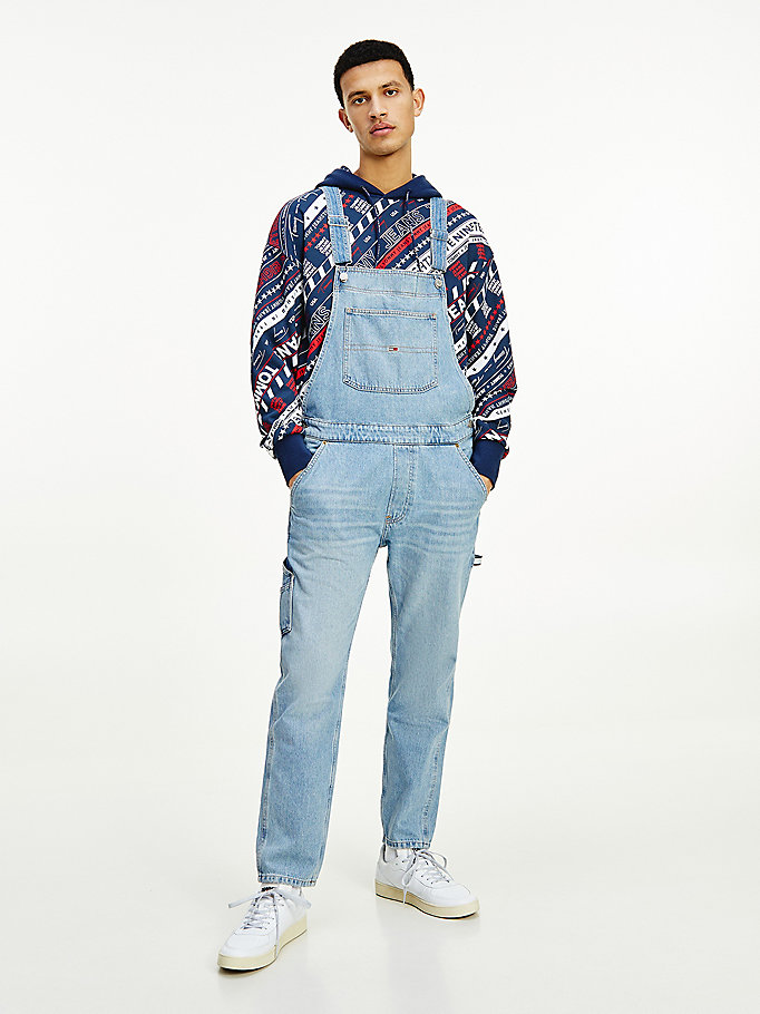 denim rigid denim dungarees for men tommy jeans