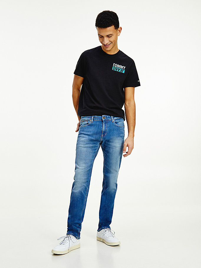 denim scanton slim twill jeans for men tommy jeans