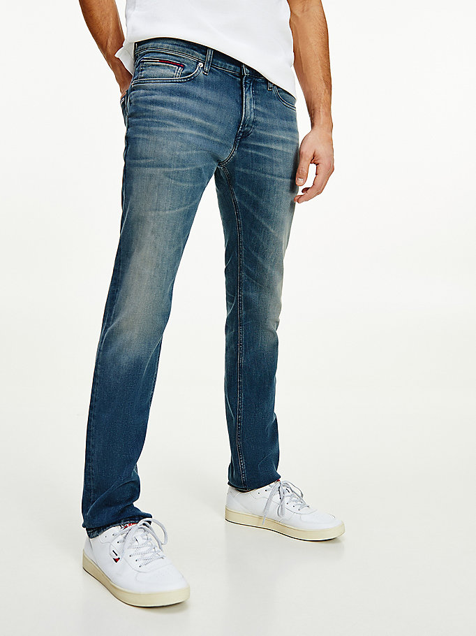 denim scanton slim contrast stitch jeans for men tommy jeans