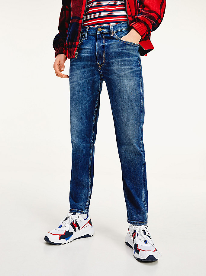 denim relaxed fit jeans mit stretch für herren - tommy jeans