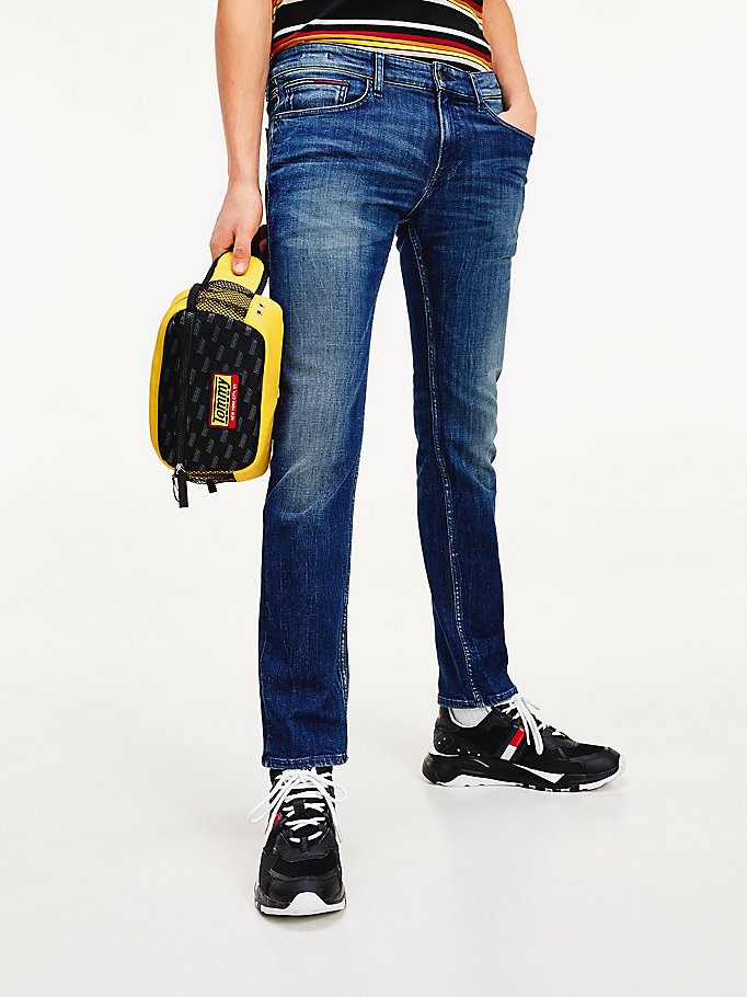 denim scanton slim fit jeans mit dynamic-stretch für herren - tommy jeans