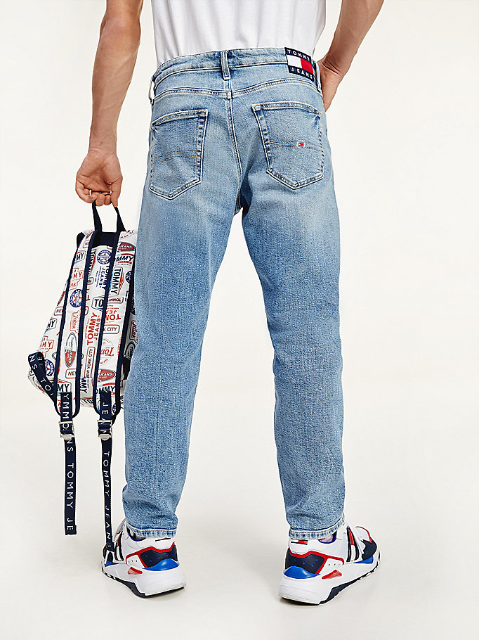 denim straight fit jeans van stretch denimkatoen voor heren - tommy jeans