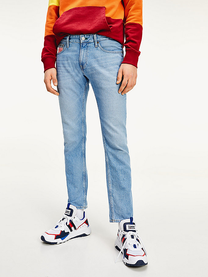 denim scanton slim fit recycled cotton jeans for men tommy jeans