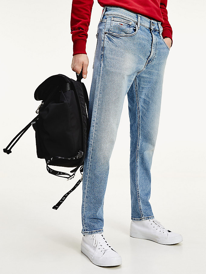 denim relaxed tapered fit jeans mit stretch für herren - tommy jeans