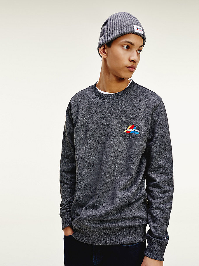 black mountain logo sweatshirt for men tommy jeans