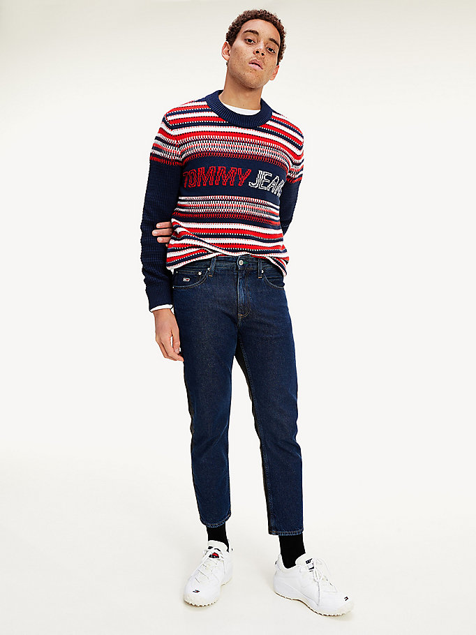 denim dad straight fit two tone jeans for men tommy jeans
