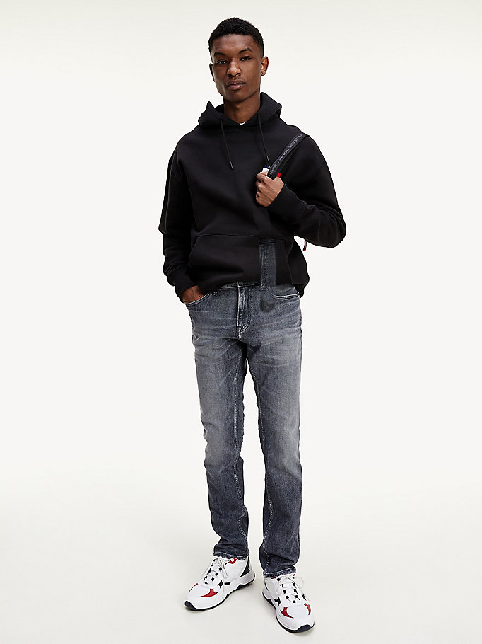 denim scanton slim fit jeans met distressing voor heren - tommy jeans