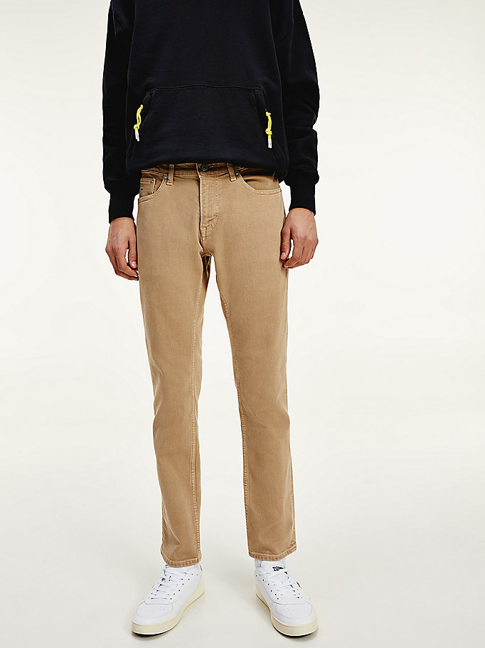 jeans scanton slim fit in twill denim da men tommy jeans