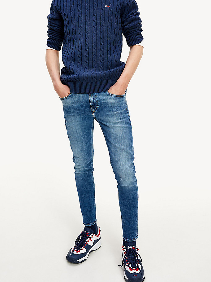 denim miles skinny fit jeans for men tommy jeans