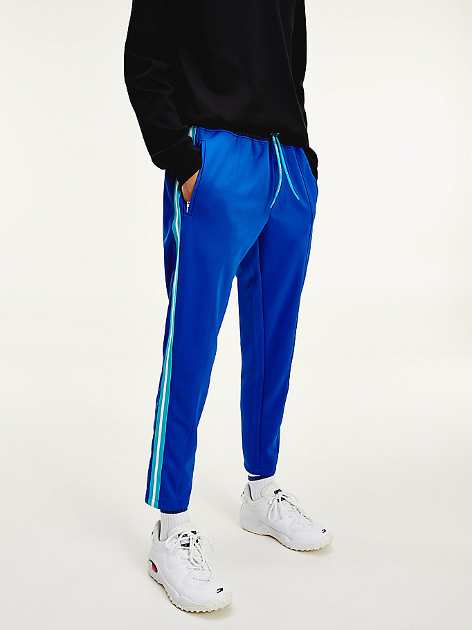 blue mountain logo slim fit joggers for men tommy jeans