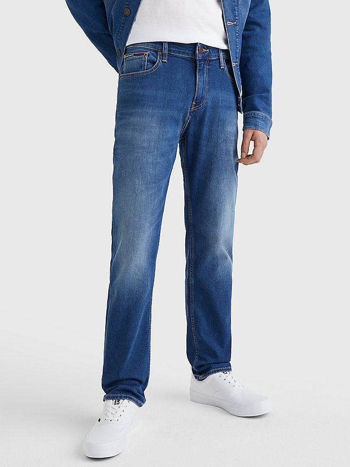denim ryan straight relaxed fit faded jeans for men tommy jeans